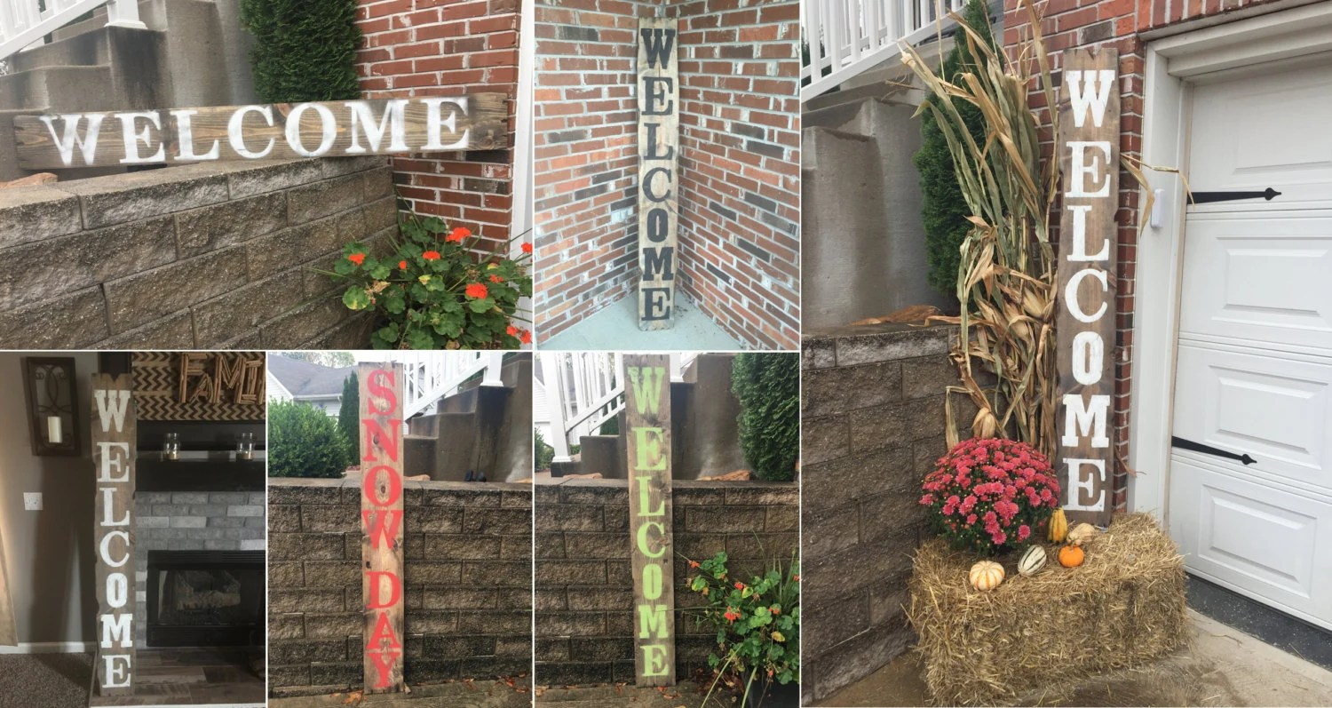 Best Yard Signs Decorative Signs Wood Name Signs Vertical Signs This Month