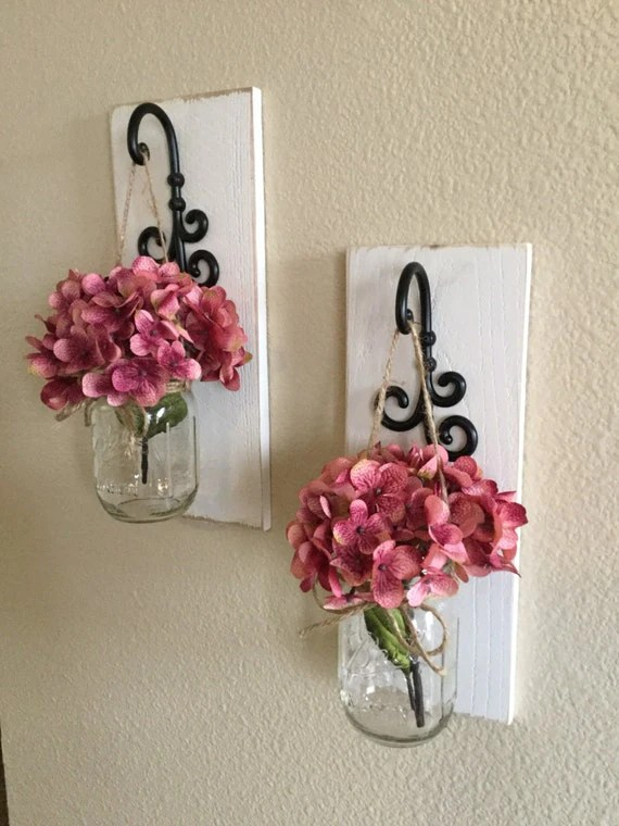 Best Mason Jar Sconces Home Decor Wall Decor Mason Jar Wall This Month