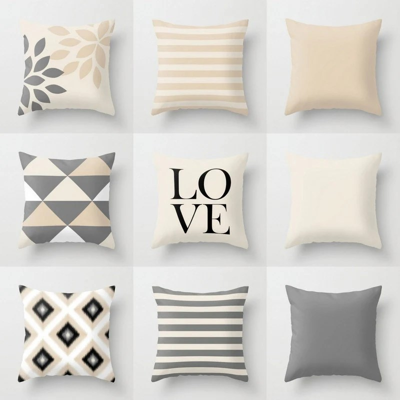 Best Neutral Pillow Covers Throw Pillows Neutral Home Decor Grey This Month