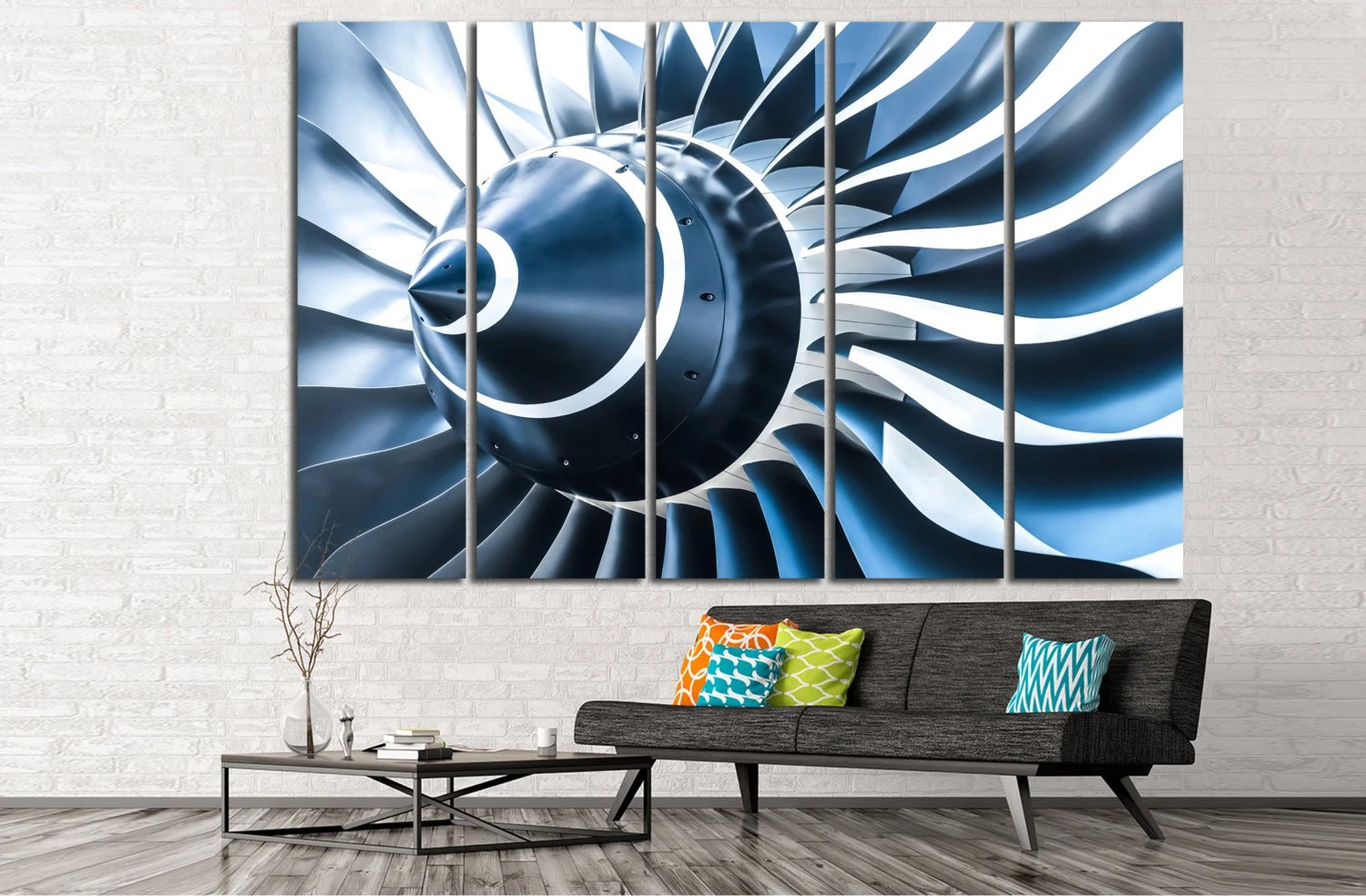 Best Air Turbine Canvas Print Aviation Wall Art Engine Propeller This Month