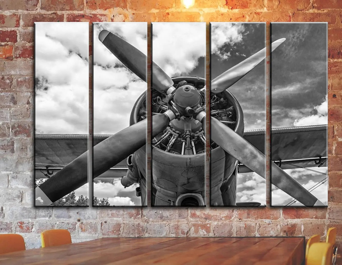 Best Big Set Engine Propeller Airplane Aircraft Wall Art On Canvas This Month