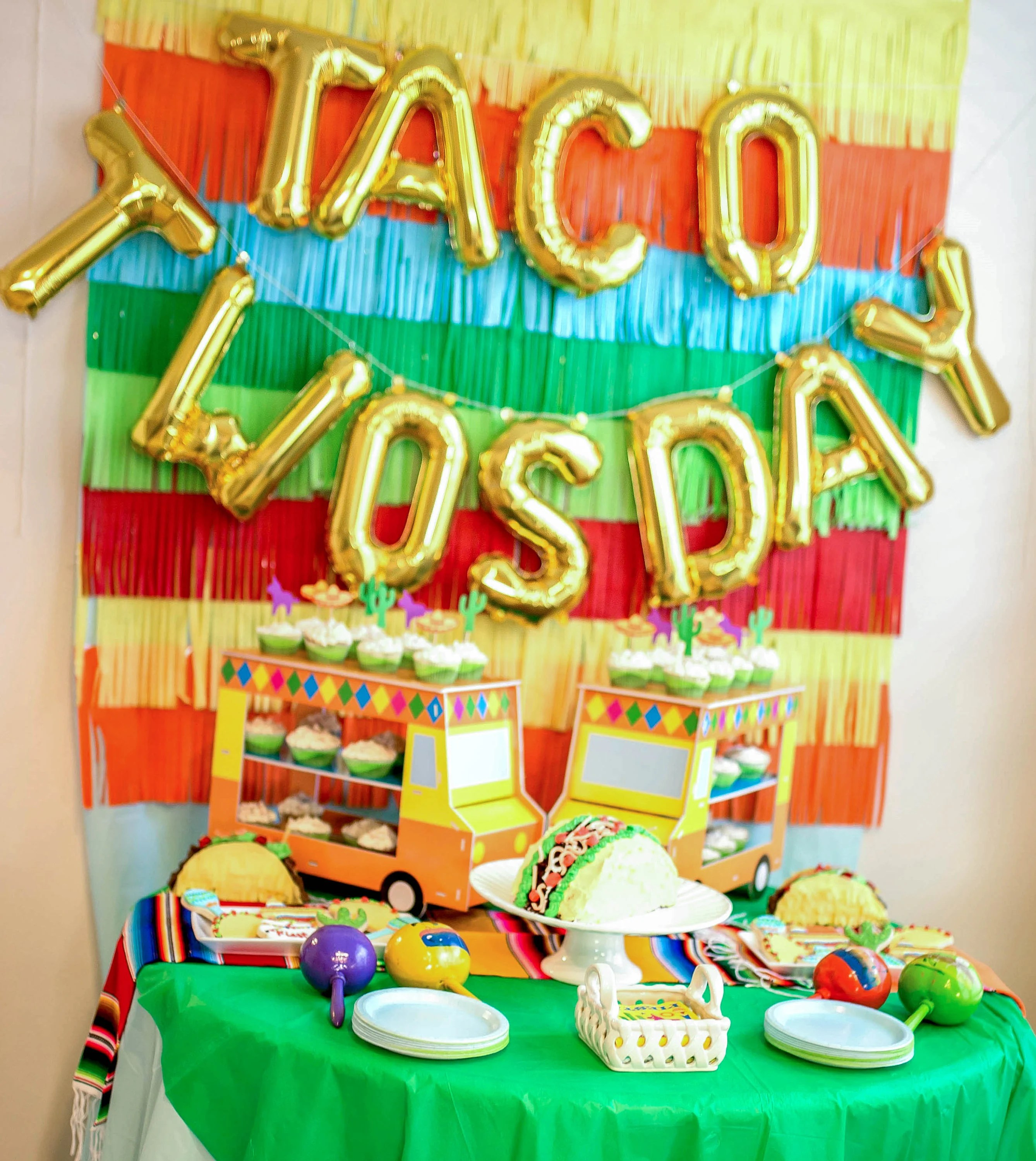 Best Taco Twosday Letter Balloons Taco Twosday Party Decor Taco This Month