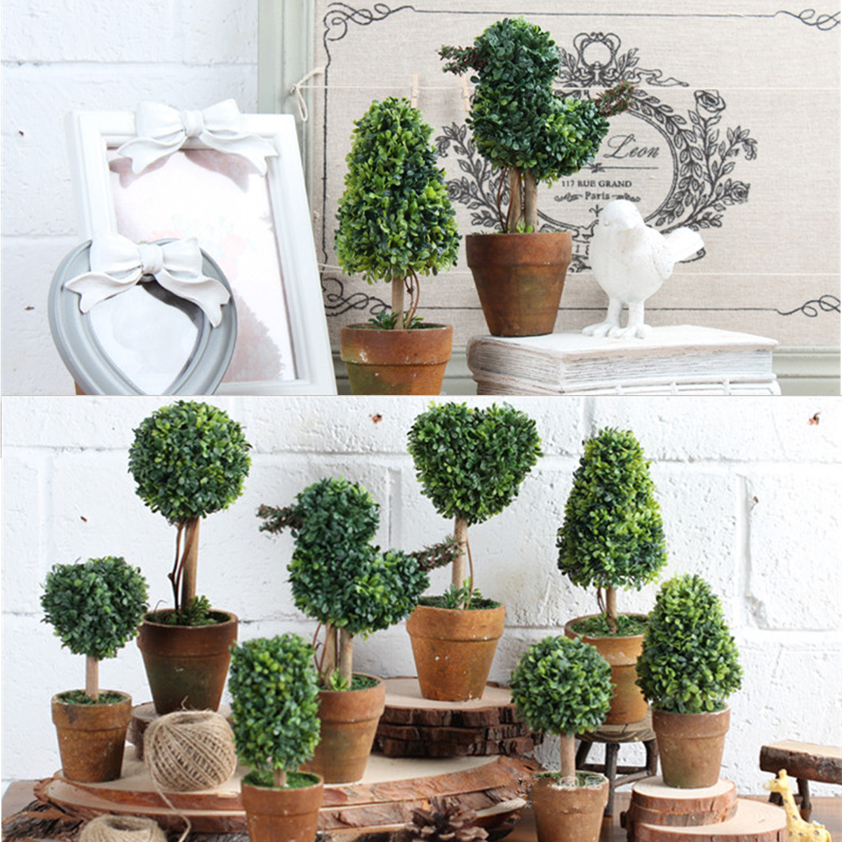 Best Artificial Potted Plant Plastic Garden Grass Ball Topiary This Month
