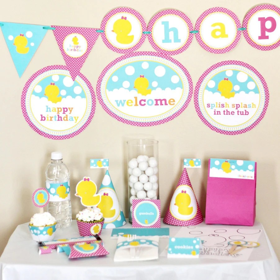 Best Girl Rubber Ducky Birthday Decorations Printable Rubber This Month