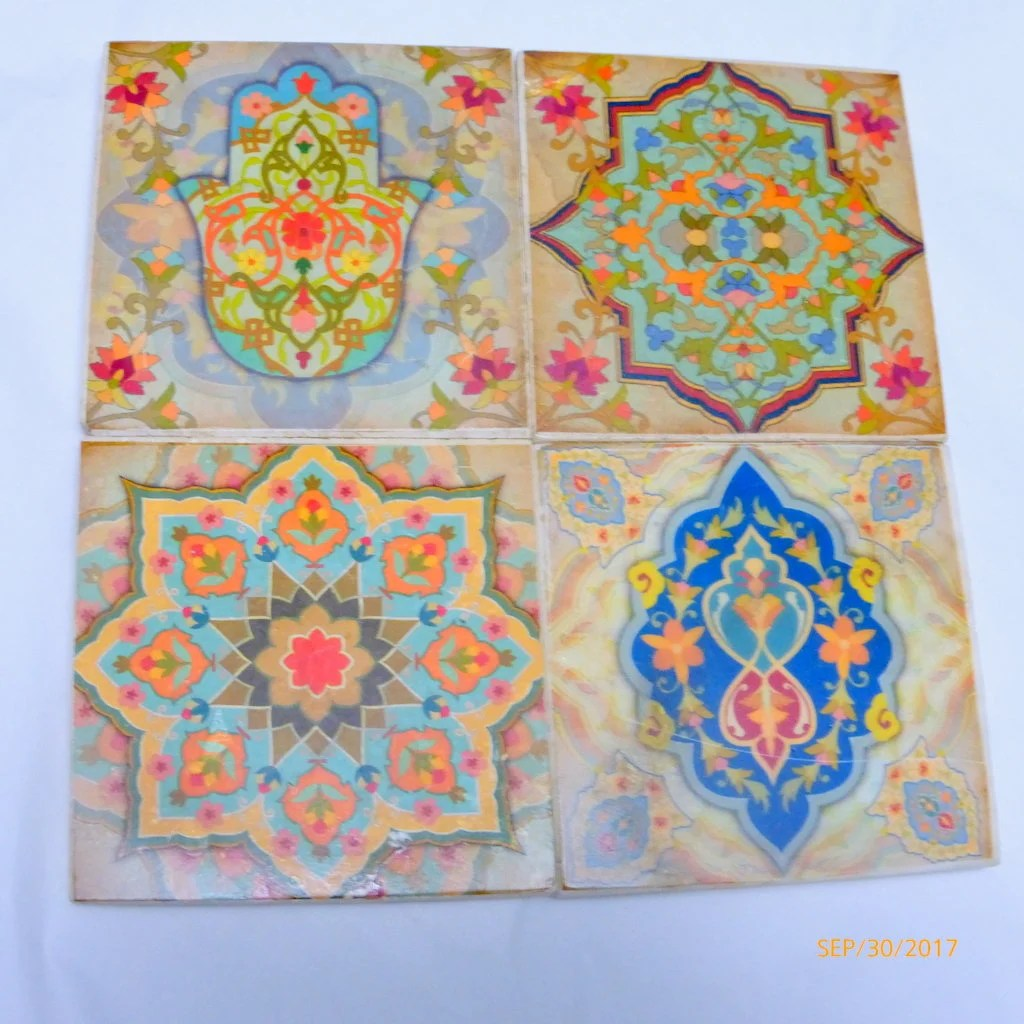 Best Travertine Coasters Stone Coasters Decorative Tile Etsy This Month