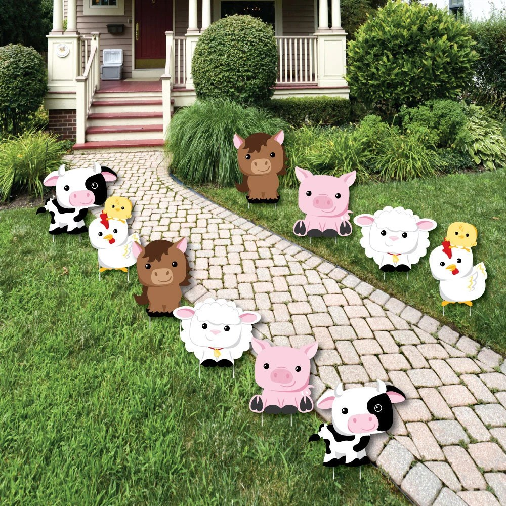 Best Farm Animals Lawn Decorations Outdoor Baby Shower Or Etsy This Month