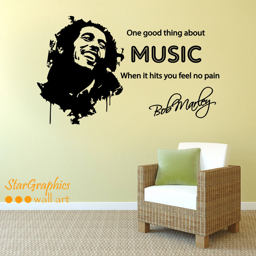Best Bob Marley Music Song Lyrics Quote Wall Art Vinyl Decal This Month