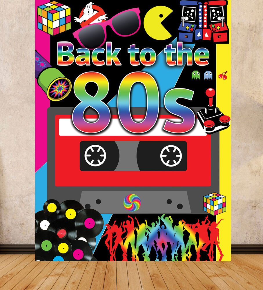 Best 80 S Theme Party Background Backdrop Large Print 1 5M X 2M This Month