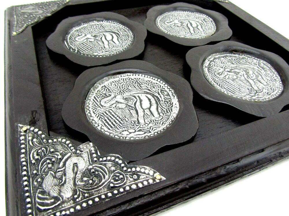 Best Decorative Elephant Coasters For Drinks Set 4 Thailand This Month