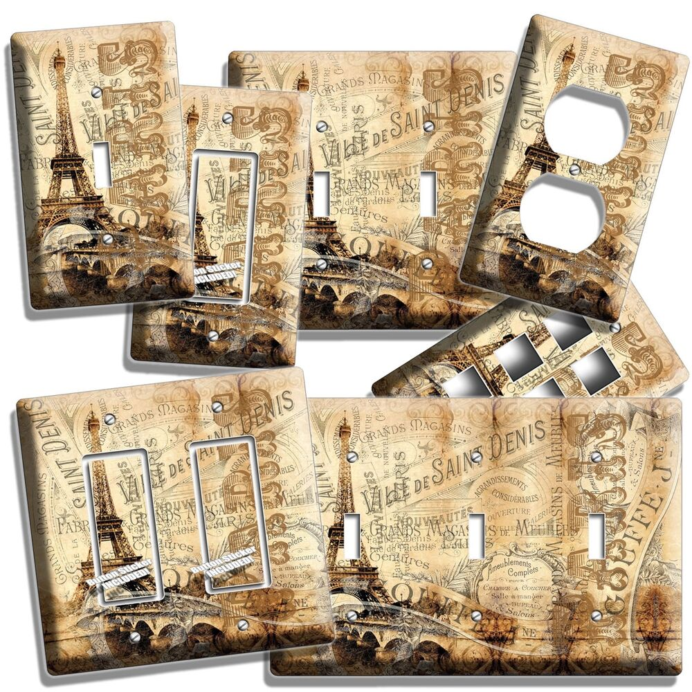 Best Paris Eiffel Tower Vitage Decorative Light Switch Wall This Month