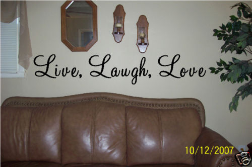 Best Wall Art Vinyl Letters Live Laugh Love Wall Decor Ebay This Month