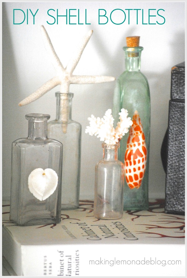 Best Diy Shell Bottles 15 Minute Decorating Day 6 Making This Month