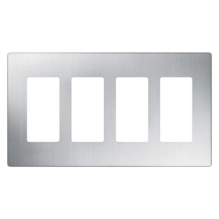 Best Shop Lutron Claro 4 Gang Stainless Steel Quad Decorator This Month