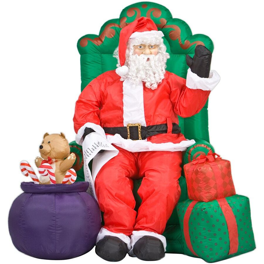Best Gemmy 5 Inflatable Santa Claus At Lowes Com This Month