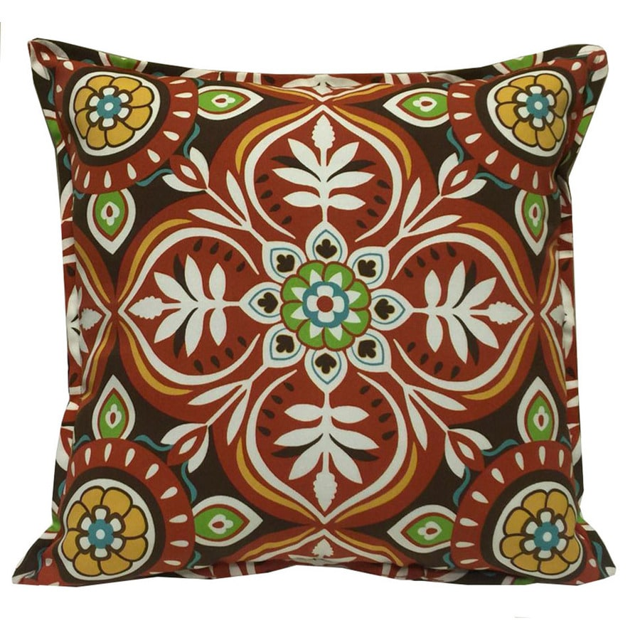 Best Garden Treasures Red And Striped Square Throw Pillow This Month