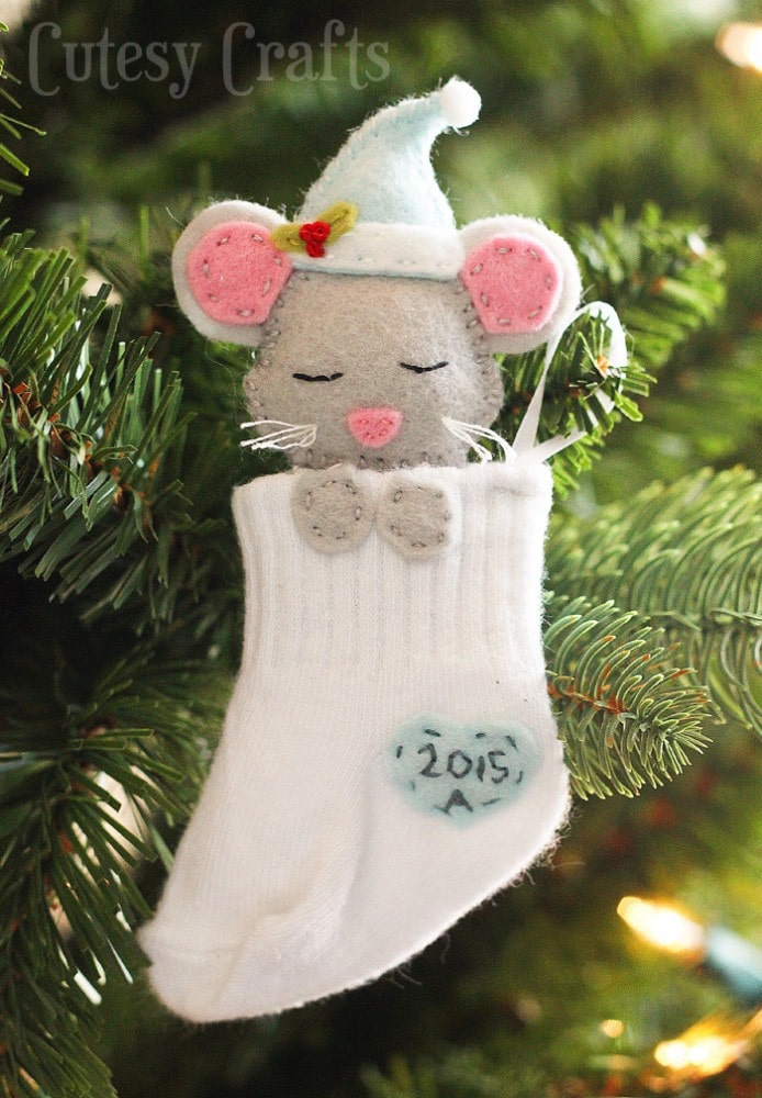 Best Baby Sock Diy Christmas Ornaments Cutesy Crafts This Month