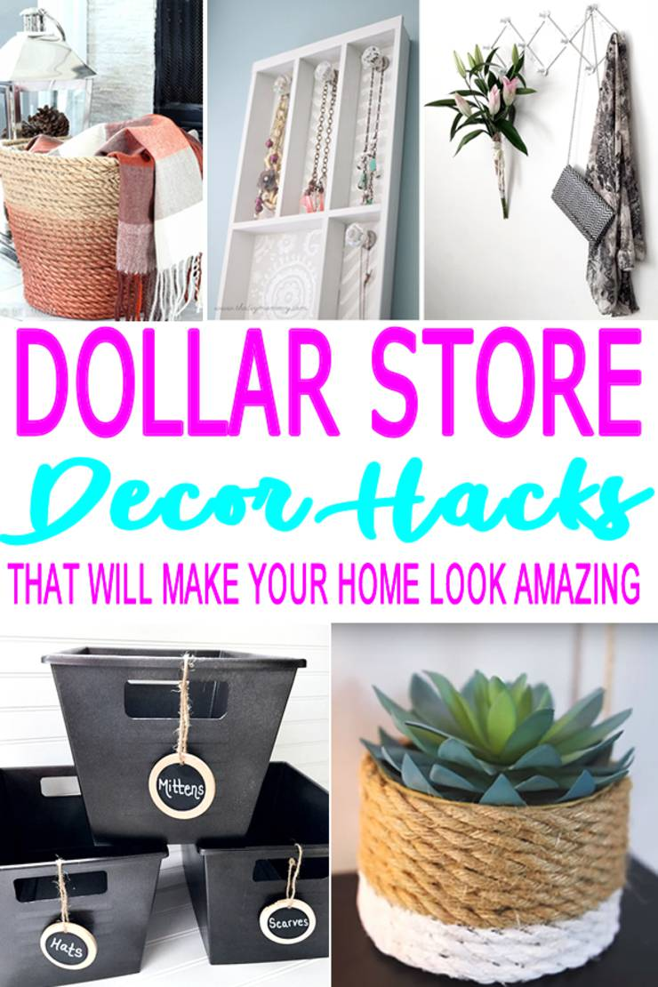 Best Diy Dollar Store Hacks Home Decor Craft Projects This Month