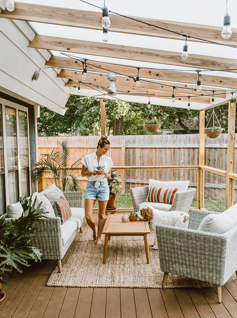 Best Before After Our Patio Reveal Livvyland Austin This Month