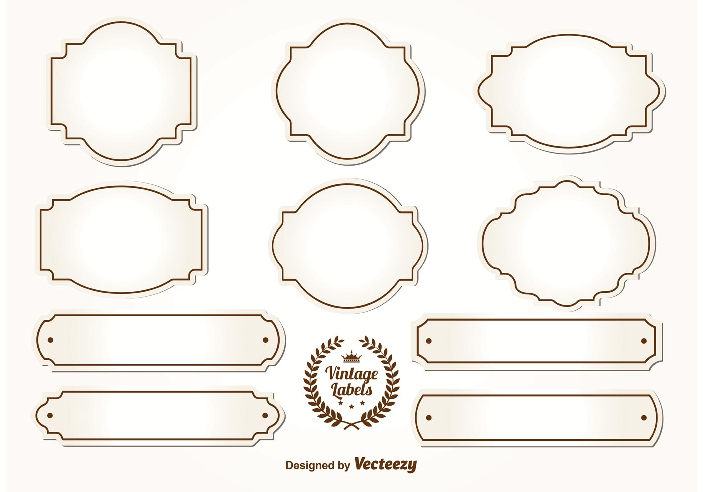 Best Blank Vintage Labels Download Free Vectors Clipart This Month