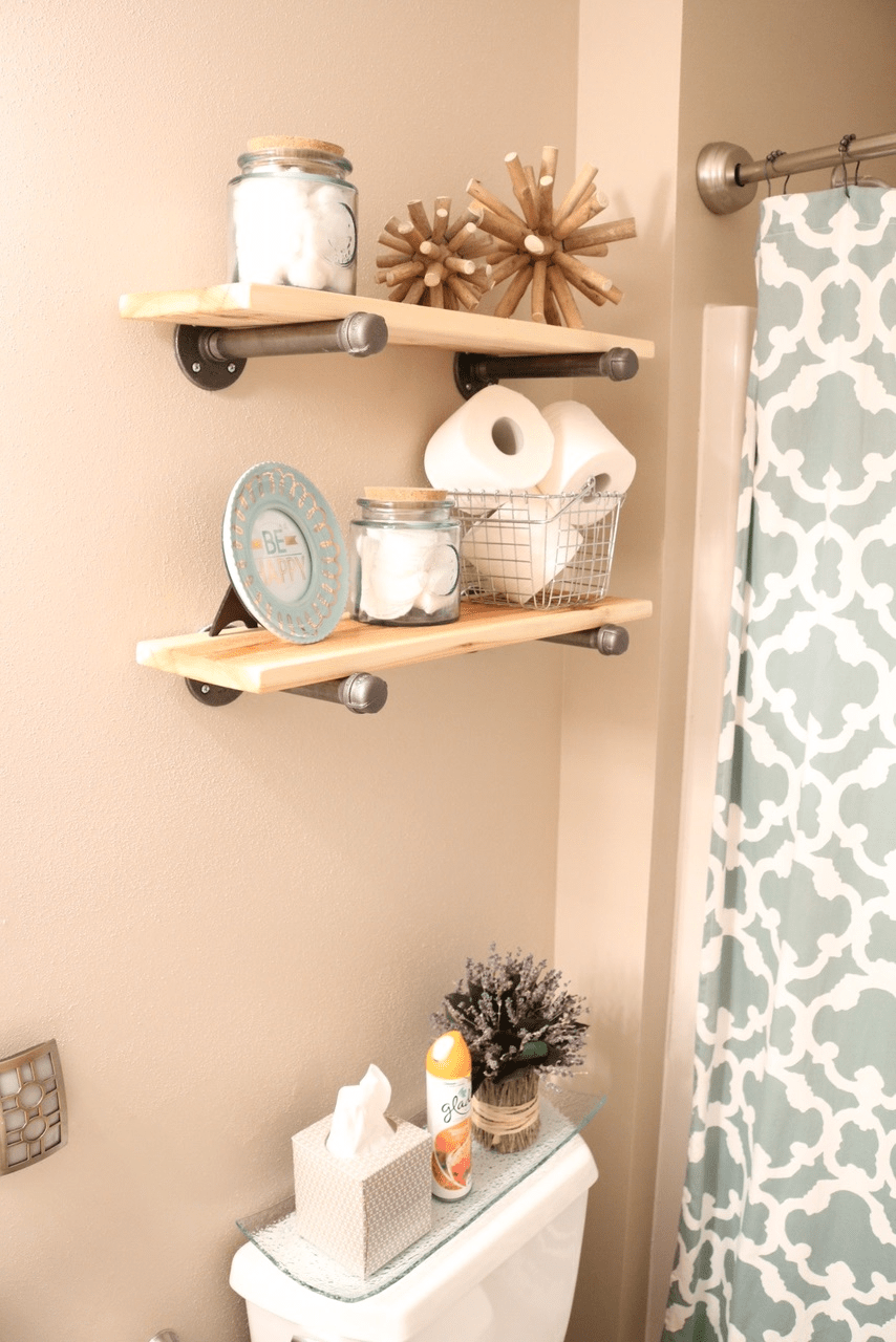Best Diy Rustic Industrial Bathroom Shelves And Beach Decor This Month
