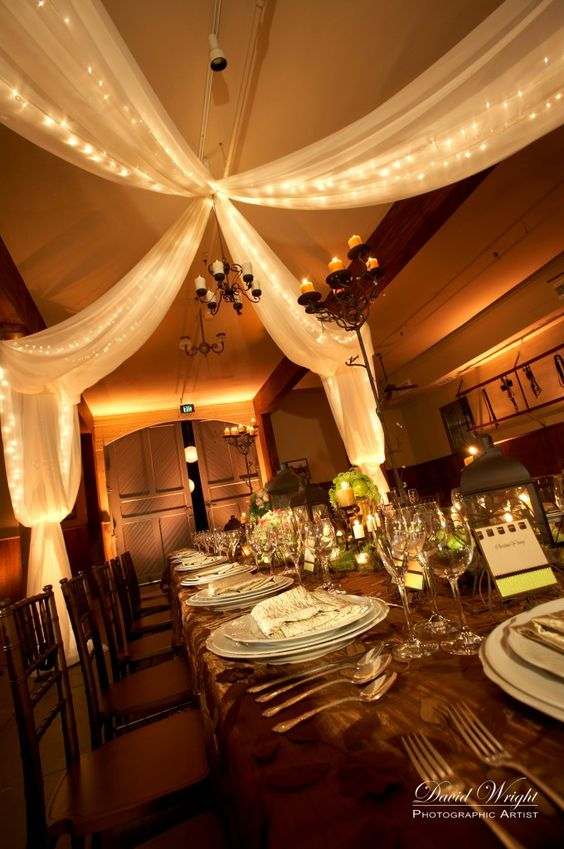 Best String Lights With Draping Fabric Fairytale Wedding This Month