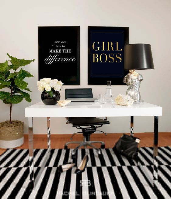 Best Girl Boss Gold Foil Print And Boss On Pinterest This Month