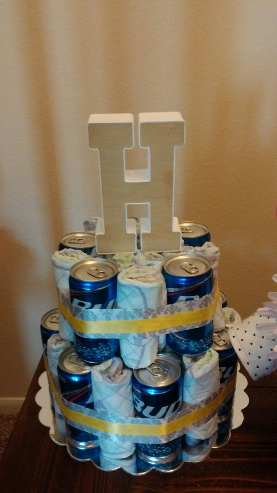 Best Beer Diaper Cake Morning Yoga Pinterest Cakes This Month