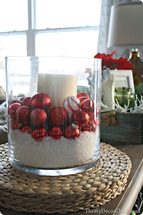 Best Simple Decorating With Fake Snow And Some Pretty Ornaments This Month
