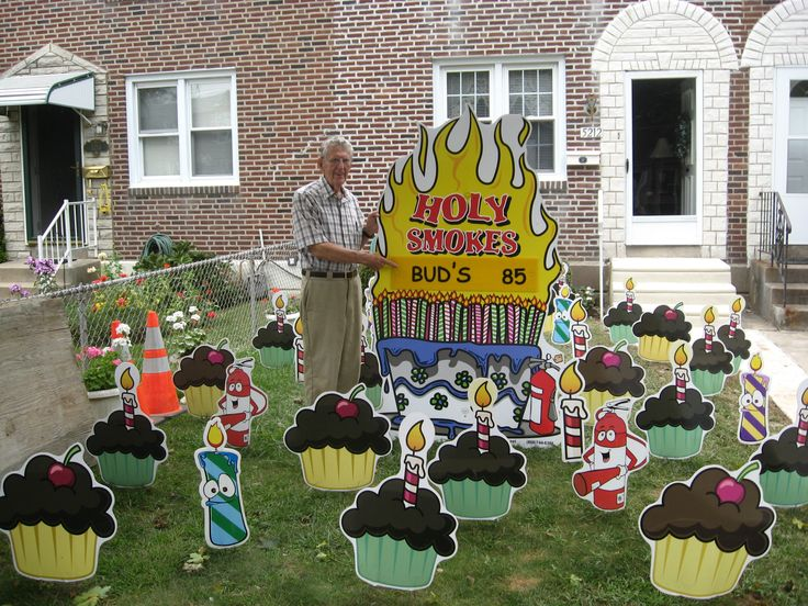Best 81 Best Birthday Lawn Signs Images On Pinterest This Month