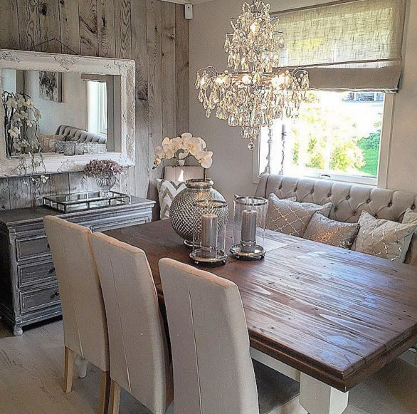 Best Rustic Glam Dining Space Home Decor Inside Outside This Month