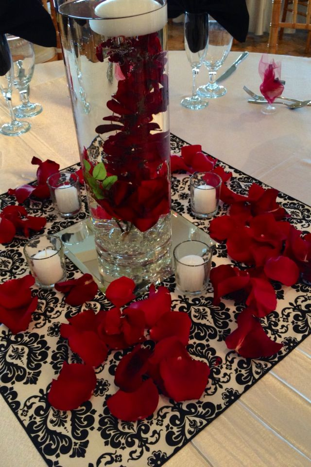 Best 38 Best Images About Red Black And White Centerpieces On This Month