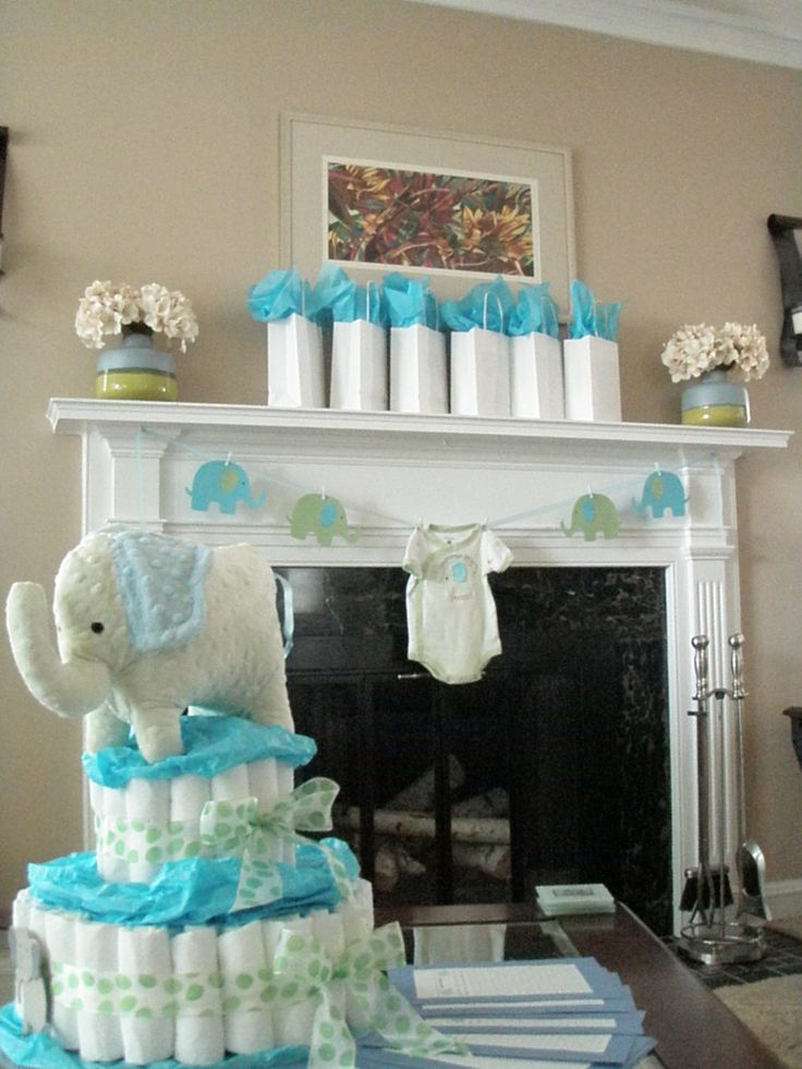 Best Blue And Green Elephant Baby Shower Decorations Elephant This Month