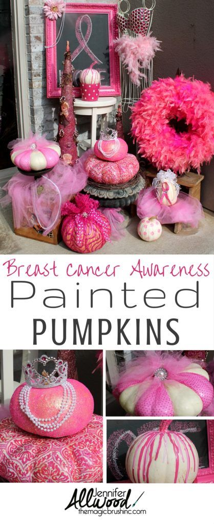 Best Pink Pumpkin Fall Decor For Br**St Cancer Awareness Month This Month