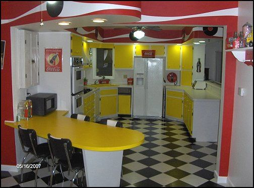 Best Home Kitchen 50S Diner Style 50S Theme Decor 1950S This Month