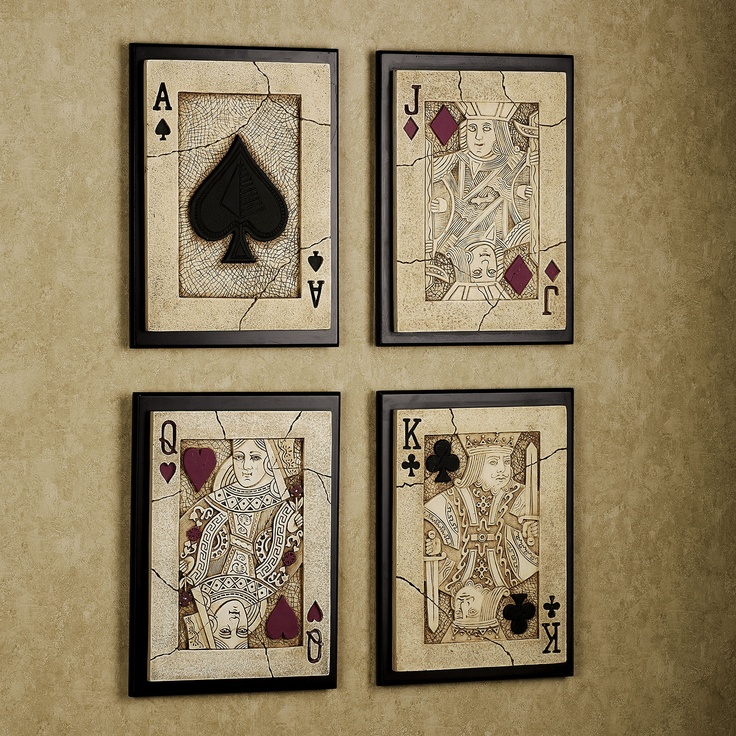 Best Playing Card Wall Plaque Set Playing Cards Pinterest This Month