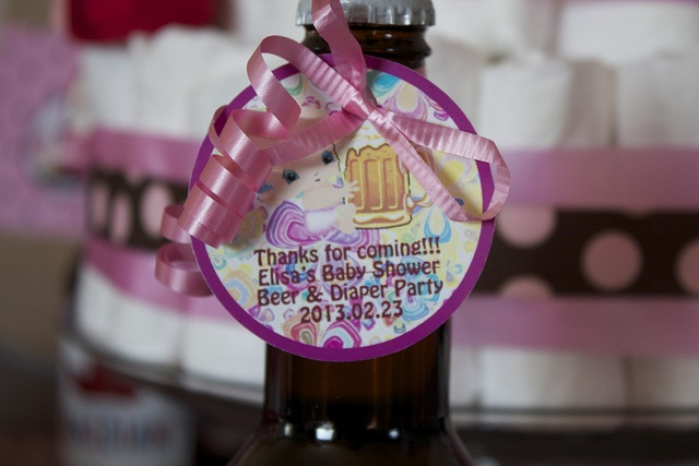 Best Girl Baby Shower Beer And Diaper Party Favors Pink And This Month