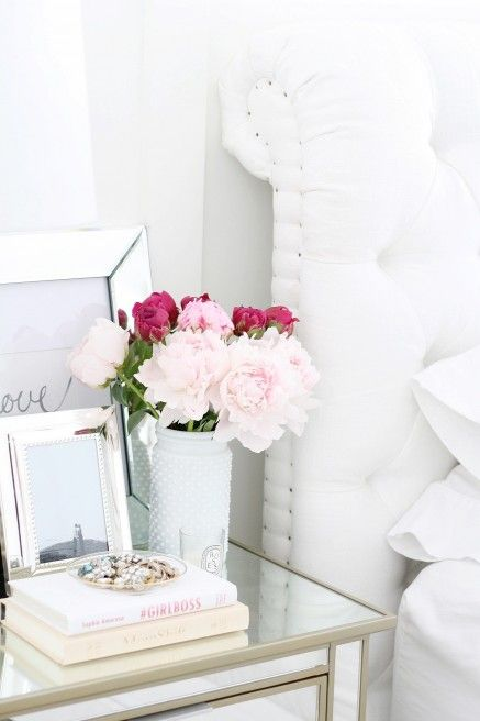 Best Bedside Table Decor Ideas On Pinterest White This Month