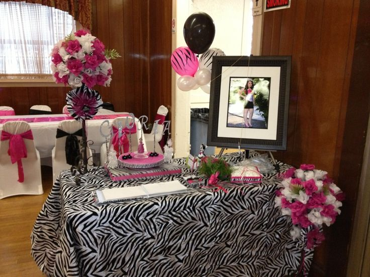 Best Quinceanera Zebra Hot Pink Decoration Ideas Seshalyn S This Month