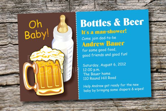 Best Bottles And Beer Man Shower Babies Diaper Party Invitation This Month