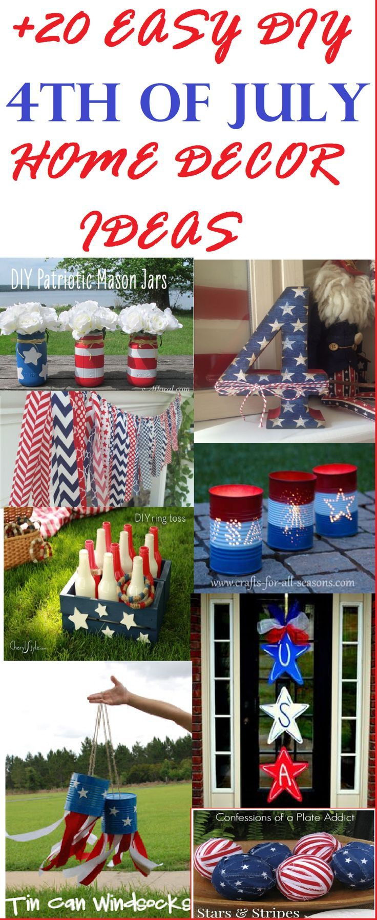 Best Diy Your Own July 4Th Holiday Decor Over 20 Easy Diy 4Th This Month
