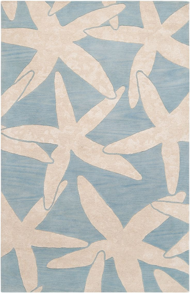 Best Escape Starfish Area Rug Ivory On Dusk Blue Beach Decor This Month