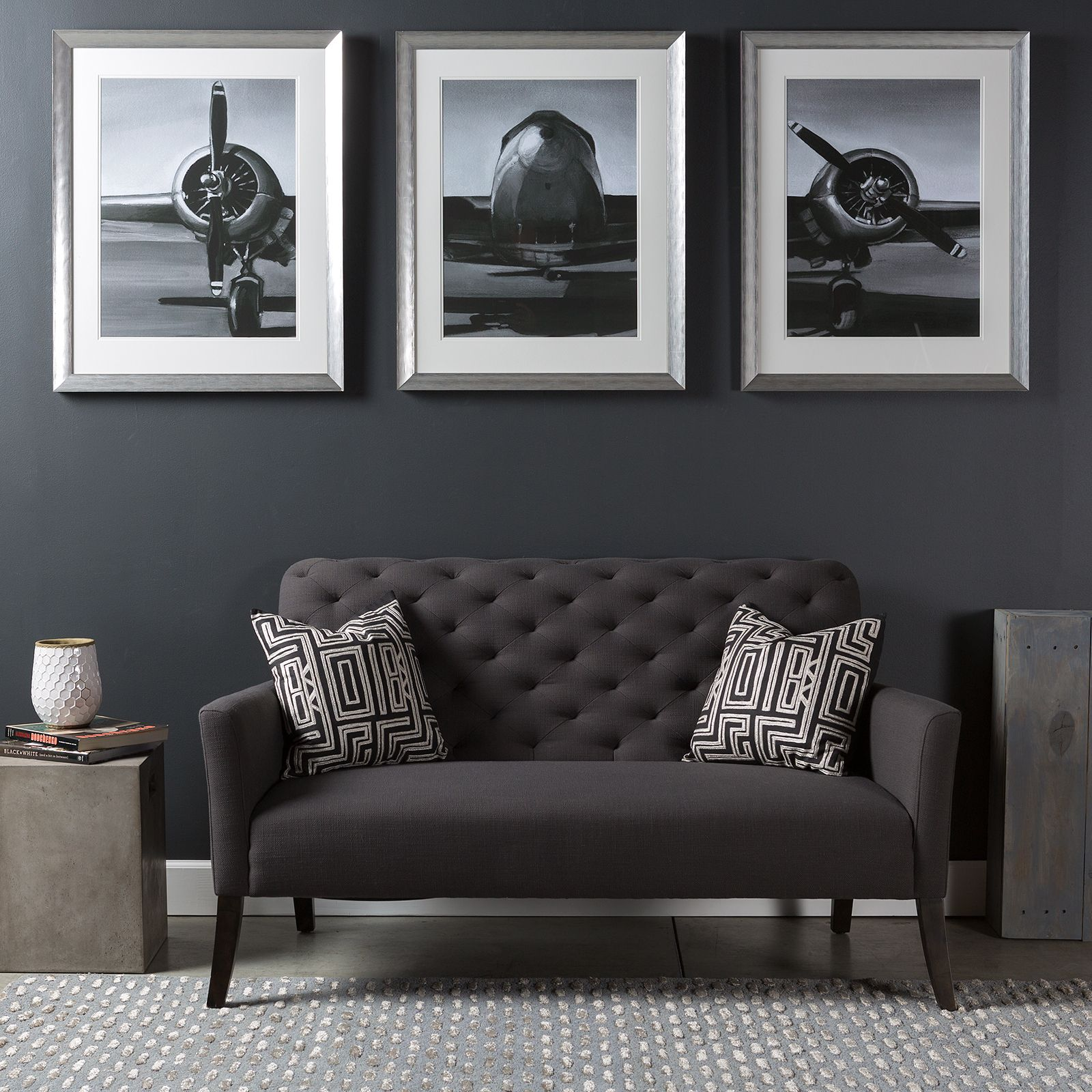 Best Triptych Wall Art Piece With A Modern Industrial Flare A This Month