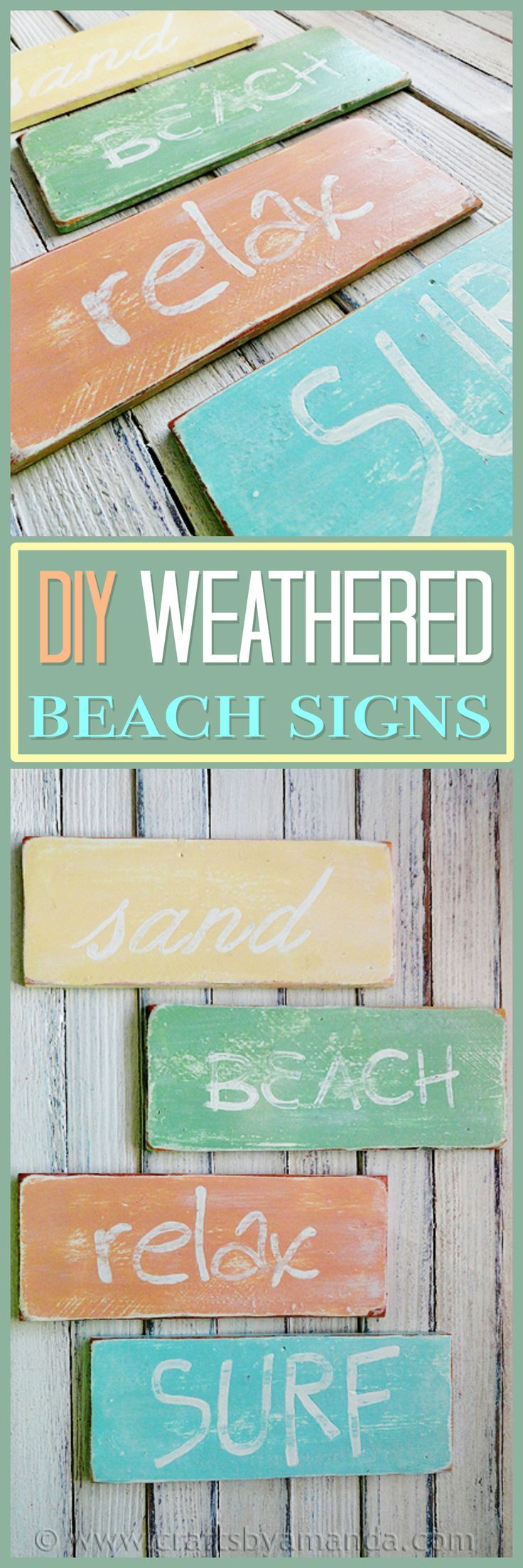 Best Weathered Beach Signs Recipe Beach And Craft This Month