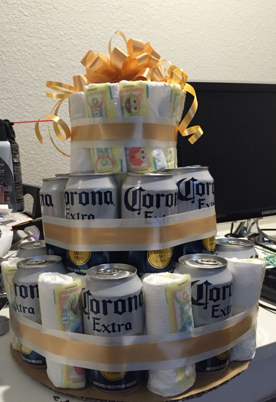 Best Beer And Diaper Cake Husband Made It For His Men Only This Month