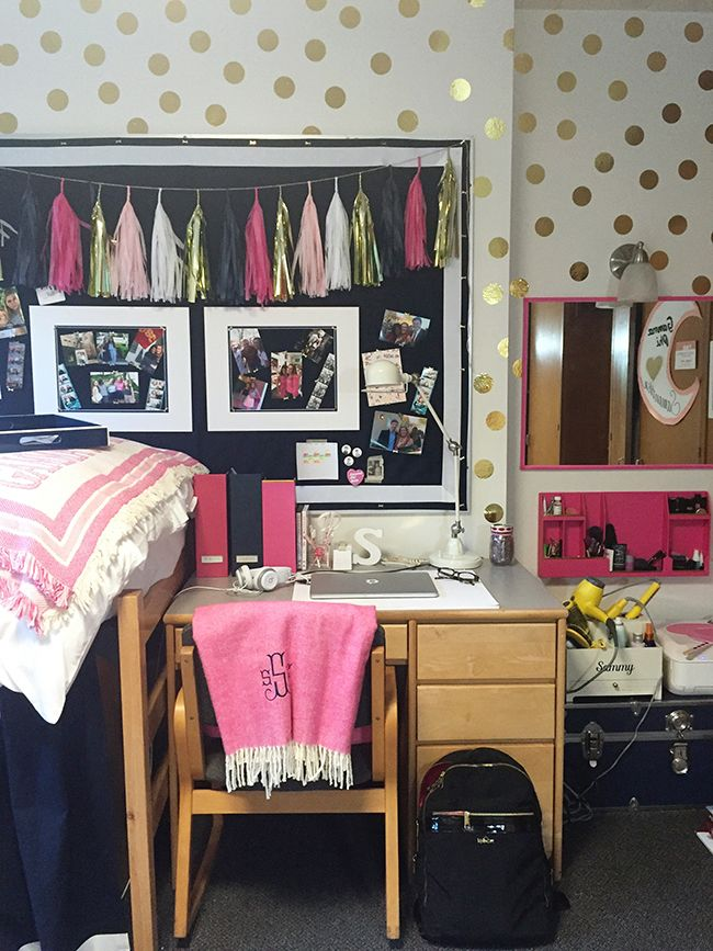 Best Dorm Room Tour Not Sure How You Feel About Wall Decals This Month