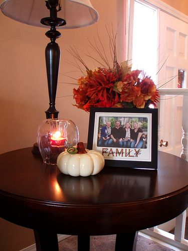 Best How To Decorate End Tables Fall Centerpiece For The This Month