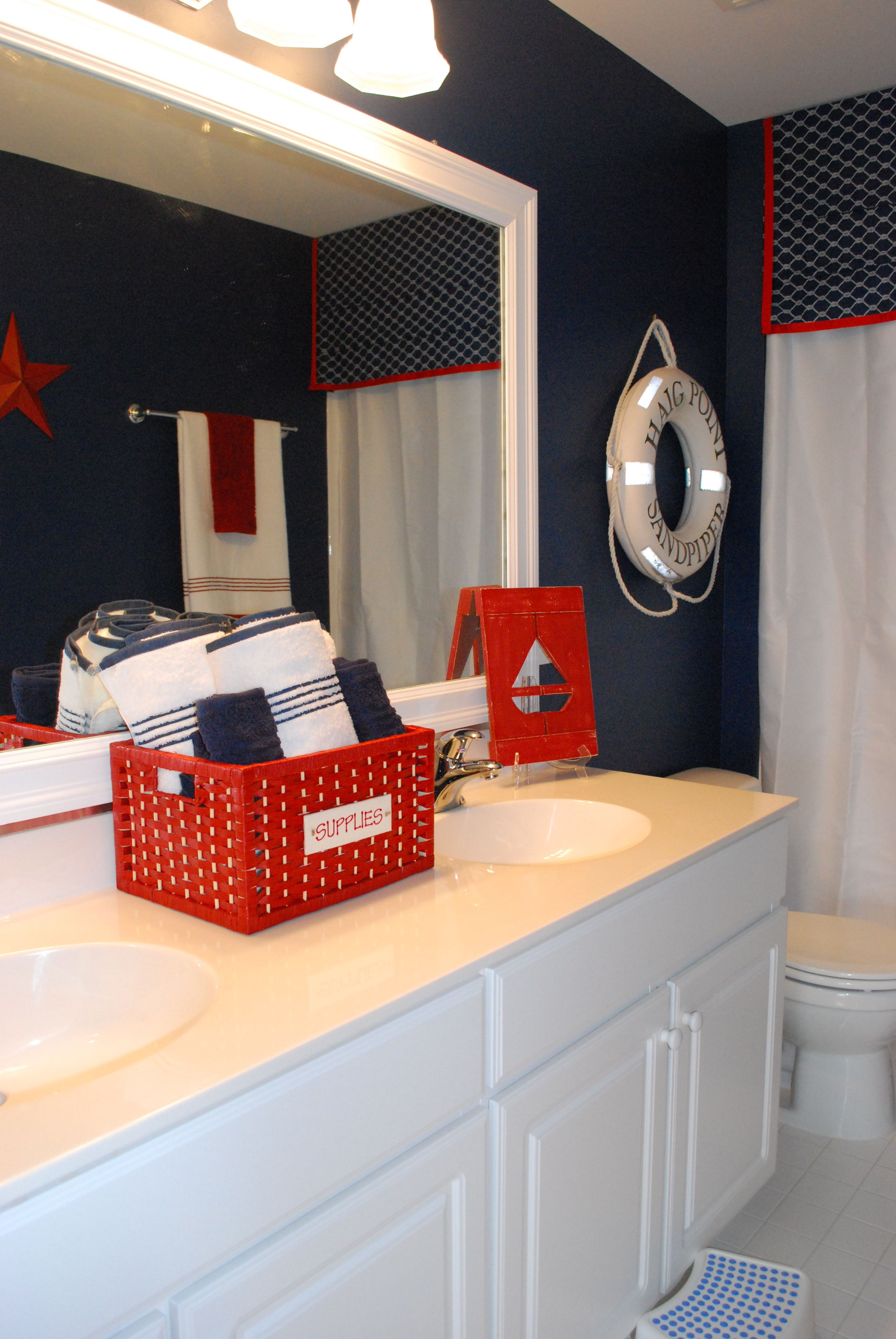 Best Boys Bathroom With A Nautical Theme Blue Nautical This Month