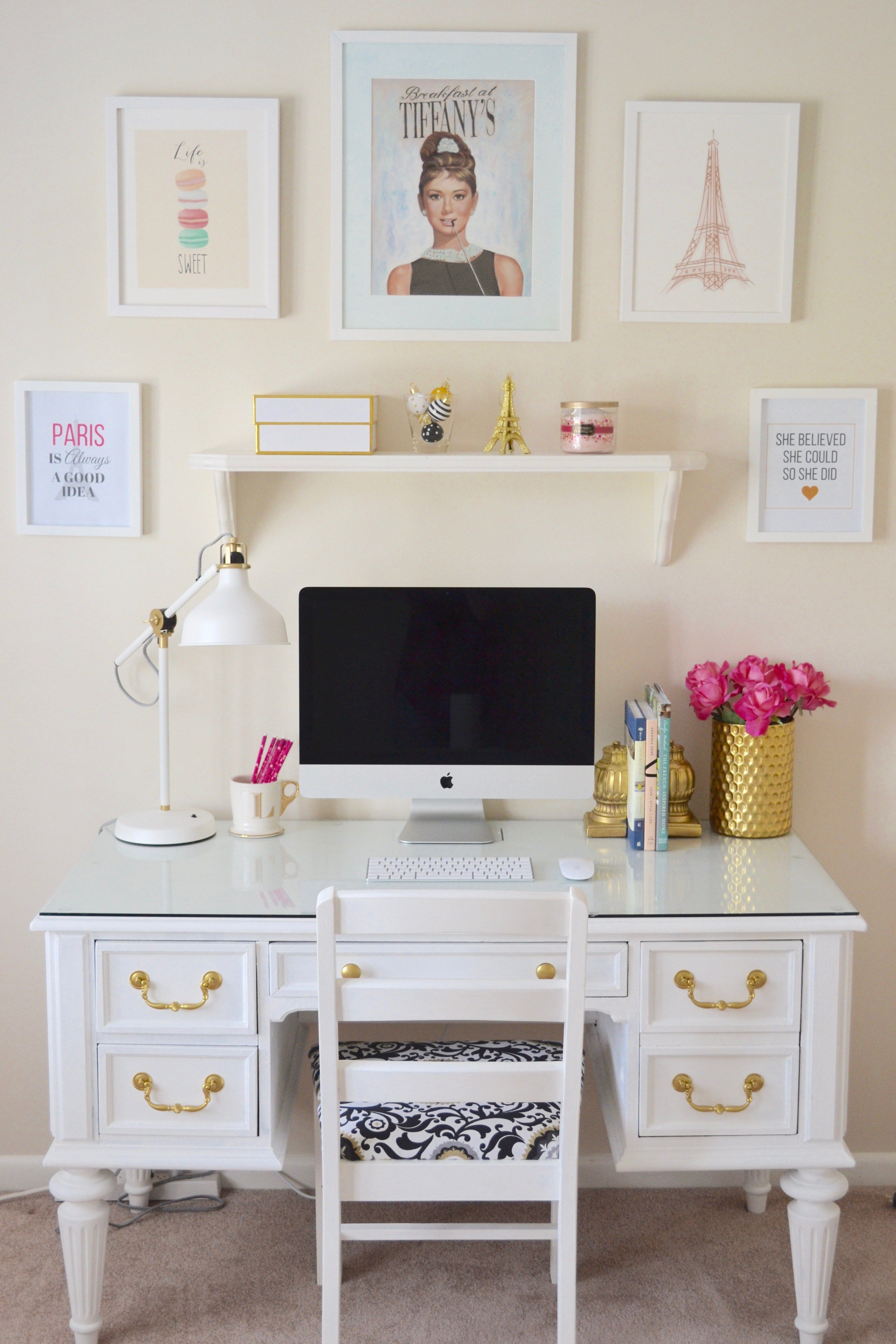 Best New Office Reveal Minted Giveaway White Desks Chalk This Month