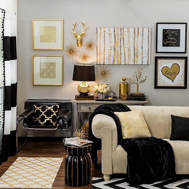 Best Bring Home Big City Style With Metallic Gold And Black This Month