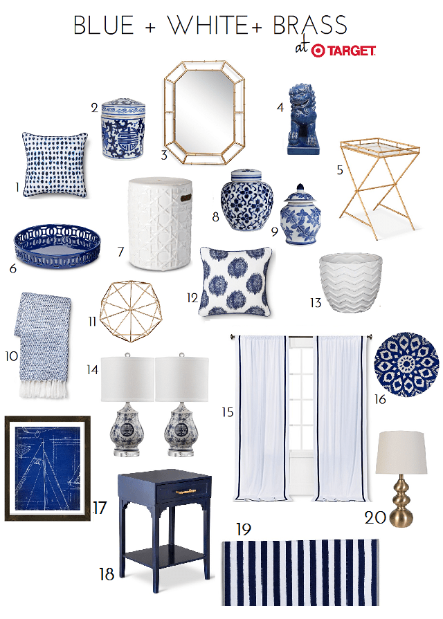 Best Blue White Accessory Finds At Target Turquoise Home This Month